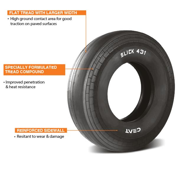 CEAT Slick 431 – Mining Tire | Slick 431 OTR (Off Road) Tire